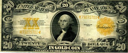 $20 gold backed bill