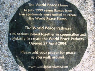 World Peace Pathway Plaque – Peace Palace, Hague, Netherlands