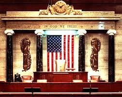 fasces in House chamber
