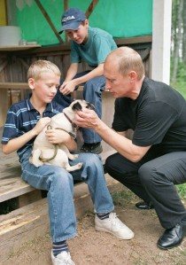 Putin with 2 boys