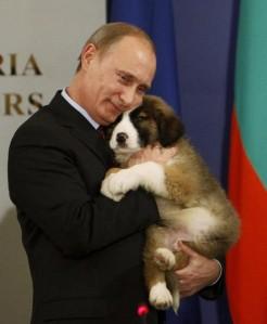Putin with dog