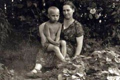 Putin with his Mom