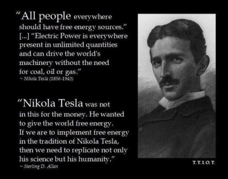 nikola tesla free energy technology