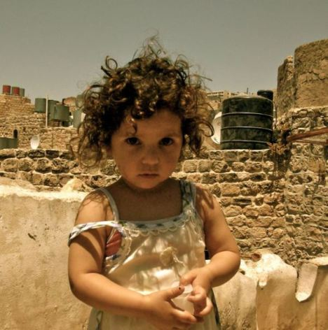 Palestinian girl in the City of Hebron
