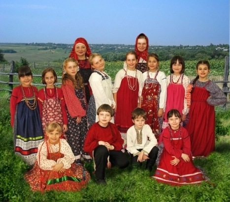 Children folk group
