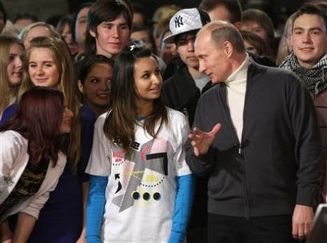Putin with youth