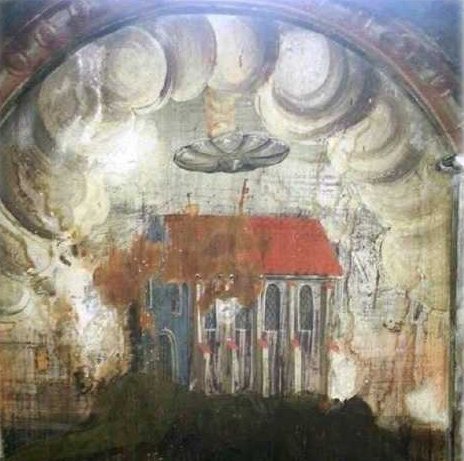 OUR ANCESTORS LIVED IN COMMUNITY WITH OUR GALACTIC BROTHERS & SISTERS Ufo-ancient-painting-romania-16th-century