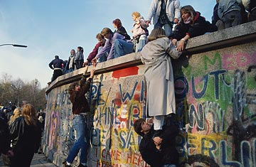 Berlin Wall - climbing over
