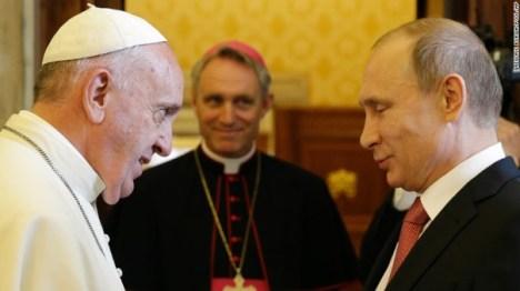 pope and putin
