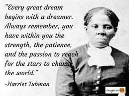 Harriet Tubman with quote